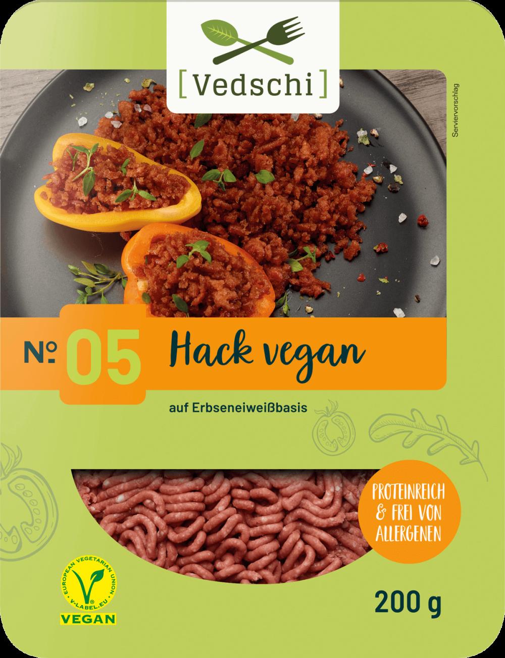 Vedschi № 05 Hack vegan im Verpackungsdesign
