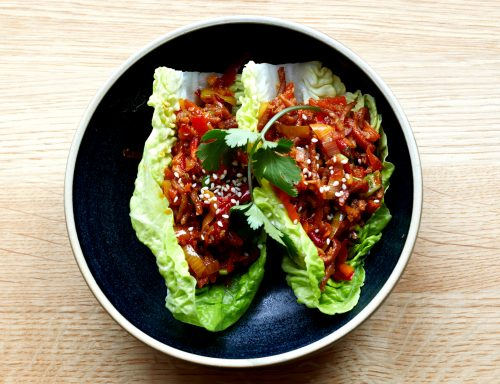 Asiatische Tan Tan mit Vedschi No. 05 Hack vegan und Salatherzen