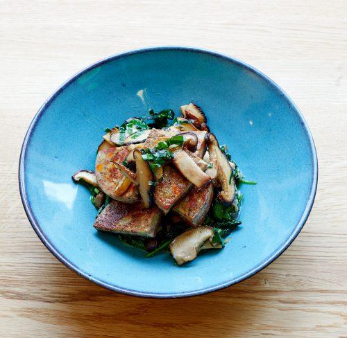 Vedschi No.02 Gemüsetaler Rezept mit Spinat und Pilzen